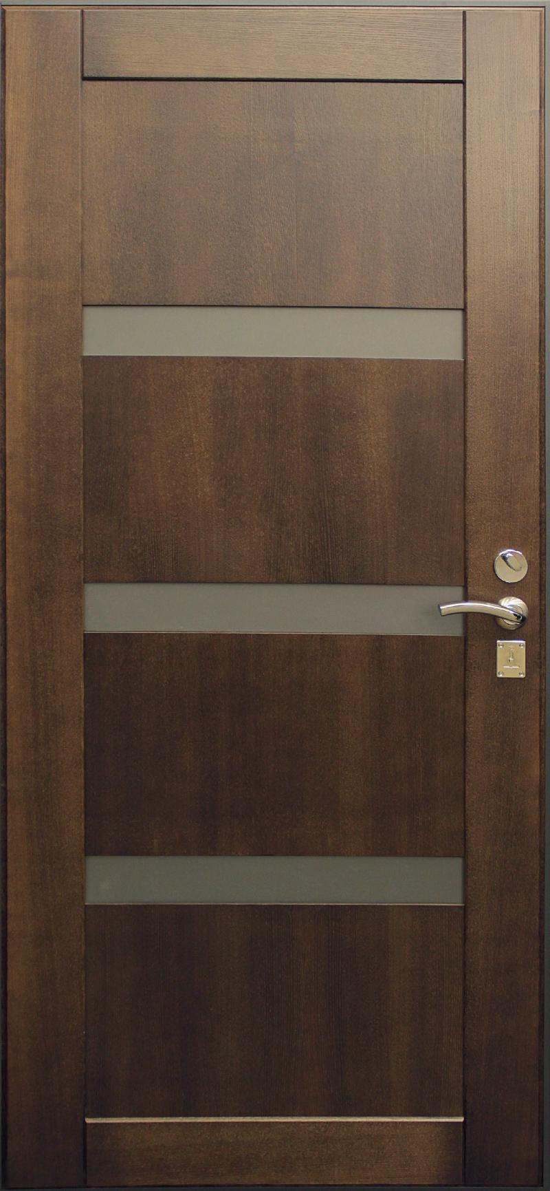 металлические двери с вставками из стекла