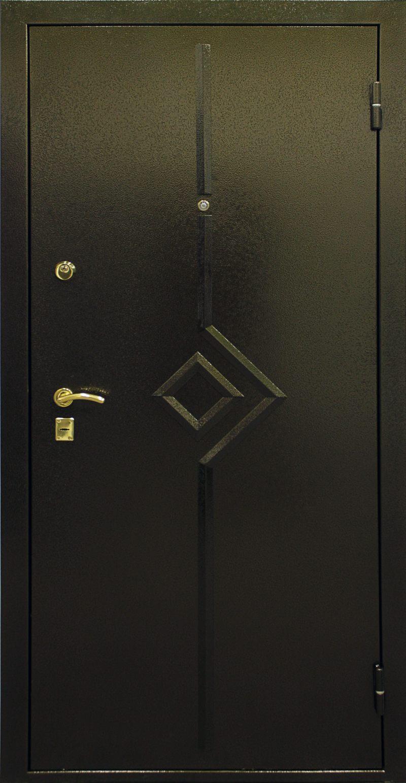 Дизайнерское оформление входной двери квартиры и частного